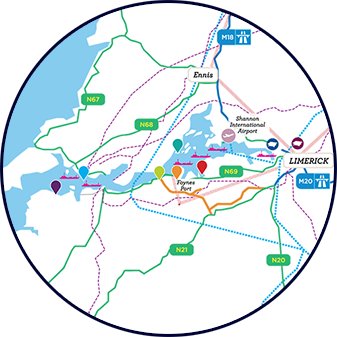 Shannon Estuary Map
